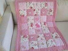 HANDMADE   Patchwork Baby Quilt -
