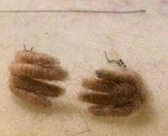 Step 5 mice fingers and toes #needlefeltingtutorials