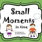 This packet is filled with resources to help your students (grades K-2) in the small moment writing process.  It includes the following:  * 10 colo...