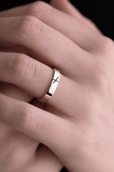Personalized Silver Ogham Ring Women's | Claddagh Design