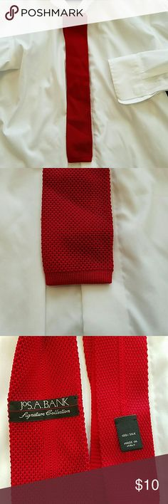 3 for $15 ties 👔HP👔Red knit tie 100% silk made in Italy red knit tie Jos. A. Bank  Accessories Ties