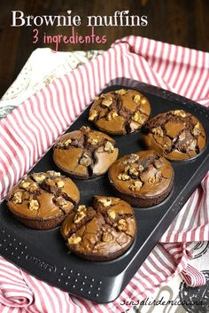 SIN SALIR DE MI COCINA: NUTELLA BROWNIE MUFFINS 3 INGREDIENTES