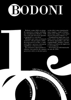 Gallery For > Bodoni Font History Poster Fonts, Typography Poster Design, Type Posters, Typographic Poster, Typography Inspiration, Graphic Design Inspiration, Typography Alphabet, Typography Fonts, Lettering