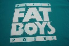 Fat Boys Hefty Posse Hip Hop Music Group Unisex T Shirt One Size Vintage 80s #Unbranded #EmbellishedTee