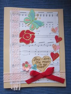 """You are the music in my heart"". That`s what my Valentine got"
