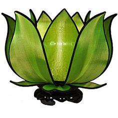 Om Gallery Blooming Green Lotus Table Lamp (Vietnam)