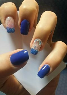Ocean blue by nails art.