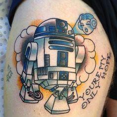 R2D2 Tattoo by gooneytoonstattoo.deviantart.com on @deviantART