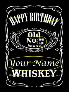 Personalized Happy Birthday Edible Icing Sheet or Wafer Paper Jack Daniels Whiskey Label Cake Topper You will receive a sheet of uncut cake topper The picture is x PERFECT FOR CAKE DECORATION Printed with a Printer used ONLY with edible ink Jack Daniels Party, Happy Birthday Jack Daniels, Happy Birthday Whiskey, Festa Jack Daniels, Jack Daniels Label, Happy Birthday 50, Whisky, Whiskey Label, Birthday Cakes For Men