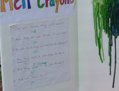 Easy Science projects for kids, melting crayons with a blow dryer craft project Elementary Science Fair Projects, Science Fair Experiments, Science Projects For Kids, School Projects, Diy Projects, Workshop Cafe, After School Care, Summer Science, Melting Crayons