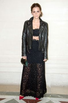 Emma Watson in Valentino and BLK Denim - 2014 100 Most Stylish (via @harpersbazaar)