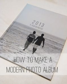 How To Make a Modern Photo Album #photography #blurb