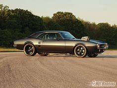 This fully loaded 1967 Pontiac Firebird features a 468ci Pontiac V-8 engine, Eagle H-beam rods, Edelbrock Performer cylinder heads, Supercharger USA 6-71blower, and much more! Check out further vehicle specs and pictures at Popular Hot Rodding Magazine.