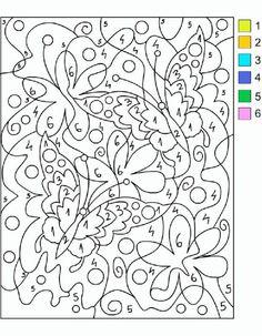 Coloreamos por números | Mírame y aprenderás Adult Color By Number, Color By Number Printable, Printable Numbers, Color By Numbers, Paint By Number, Number 0, Printable Coloring Pages, Coloring For Kids, Coloring Pages For Kids