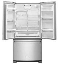 Shop KitchenAid Refrigerators in Mass   French Doors KRFF302ESS