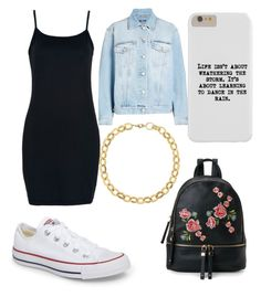 """Regular day"" by destinytrendy on Polyvore featuring Alexander McQueen, WithChic, Converse, Laundry by Shelli Segal and Urban Expressions"