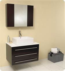 Fresca Espresso with Marble Countertop Modello Wall Mounted Solid Oak Wood Vanity With Marble or Granite Top, Medicine Cabinet, Ceramic Sink, Faucet, Pop-Up Drain and Installation Hardware Vanity Set With Mirror, Wood Vanity, Single Bathroom Vanity, Vanity Sink, Black Vanity, Discount Bathroom Vanities, Discount Bathrooms, Modern Shower, Modern Bathroom