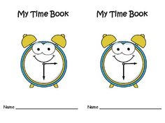 This cute time mini book helps students learn how to show time on a clock.