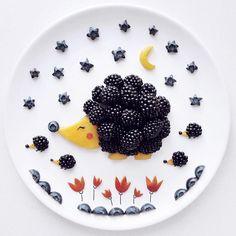 Mama hedgehog & her babies by D A K O T A  S K Y   (@darynakossar)
