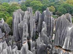 Bosque de piedra de la ciudad de Shilin en China.