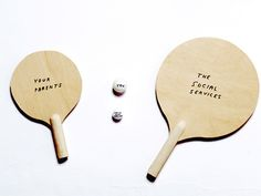 David Shrigley YOU, YOUR WEE SISTER, YOUR PARENTS AND THE SOCIAL SERVICES 2001 Wood, poster pen, ping-pong balls