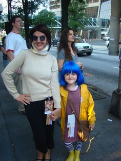 CORALINE   with her Other Mother—a great mother-daughter Halloween costume set!