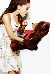 You tell that bear whose boss! Hehe. She's so adorable :). Gotta love her :)