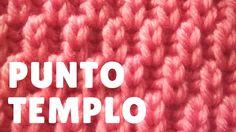 """Punto """"templo"""" (dos agujas)"""