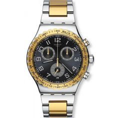 cbc5d5539ef Men s Swatch Watch Irony Chrono Golden Youth YVS427G Chronograph... for  sale online at