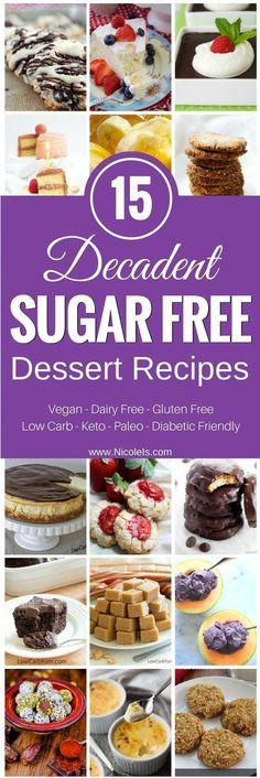 15 decadent sugar free desserts low carb desserts rezepte, d Sugar Free Deserts, Sugar Free Recipes, Low Carb Recipes, Vegetarian Recipes, Vegetarian Cooking, Mexican Recipes, Vegetable Recipes, Sweet Recipes, Desserts Sains