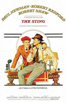 The Sting ~ another great old movie ONE OF MY FAVORITES