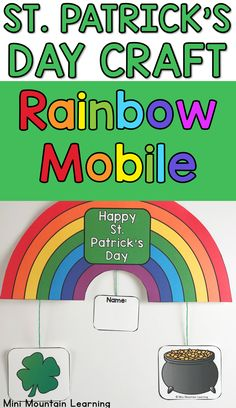 Patrick's Day craft for elementary grade. Have your students complete this fun craft for St. St Patrick's Day Crafts, New Year's Crafts, Fathers Day Crafts, Valentine Day Crafts, Summer Crafts, Fun Crafts, Classroom Activities, Activities For Kids, Back To School Crafts