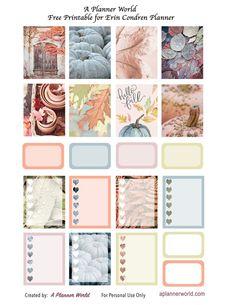 Free Pastel Fall Printable For Erin Condren, Recollections & Happy Planner Mom Planner, Happy Planner, Binder Planner, Free Planner, Arte Popular, Printable Planner Stickers, Planner Organization, Erin Condren, Planners