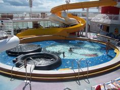 Disney cruise- There are many activities you can do, anywhere from water slides to Congo lines