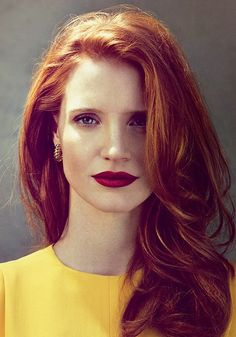 We adore Jessica Chastain's long red mane