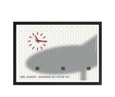 Arne Jacobsen - Gas Station watch / L 36 | hos Plakatgalleri.dk Kim Lynnerup