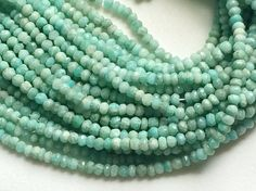 Amazonite Beads Amazonite Faceted Rondelle Beads by gemsforjewels