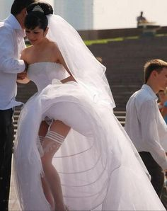 Sorry, Brides stocking tops exposed what