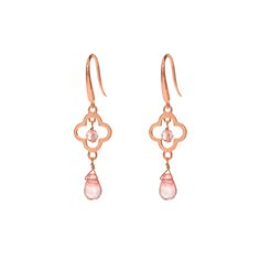 Ohrringe Lucky, small - Rose - Art.-Nr.: OH4247-AV  #earrings #jewellery #Leaf #fashion #style #accessoires www.leaf-schmuck.de