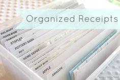 Organized receipts