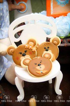 """Goldilocks and the Three Bears Themed Party with So Many Cute Ideas via Kara's Party Ideas"""" The Bear Cookies"""