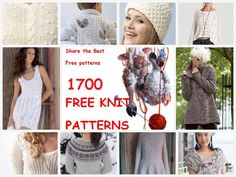 More than 1700 FREE pattern to knit<3 Go to: http://pinterest.com/DUTCHYLADY/share-the-best-free-patterns-to-knit/