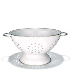 Avon Living Stainless Steel Colander. The steel colander is the newest offering in our collection of colanders. This one is white in color, stainless steel and a beautiful addition to your kitchen tools.