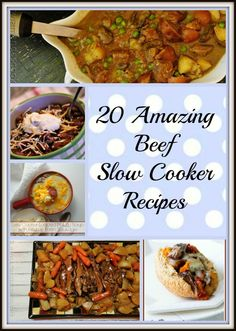 20 Amazing Beef Slow Cooker Recipes - #delicious #slowcooker recipes roundup with lots of pictures!