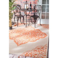 nuLOOM Modern Floral Outdoor/ Indoor Porch Rug (8'6 x 12'2) - Overstock Shopping - Great Deals on Nuloom 7x9 - 10x14 Rugs