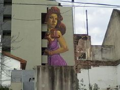 One of the highest murals in Latin America is in Villa Urquiza and occupies 9 floors, by Leandro Frizzera.
