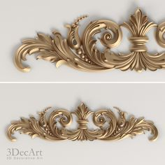 3Ds Max Carved Scroll Cnc - 3D Model
