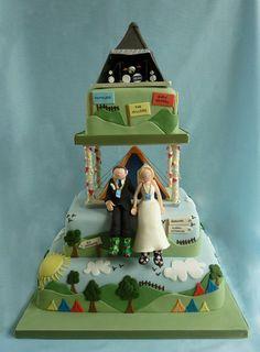 Glastonbury Festival Wedding Cake  Cake by Sandra Monger