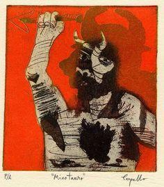 Minotauro con lanza, después de Picasso