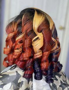 Bold Hair Color, Hot Hair Colors, Beautiful Hair Color, Hair Color For Women, Color Your Hair, Hair Color For Black Hair, Curly Hair Styles, Natural Hair Styles, Dyed Natural Hair